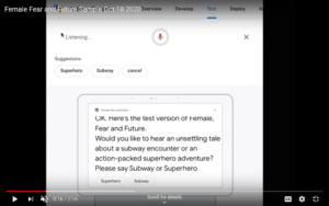 Screenshot of female, fear and future youtube video