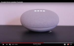 Screenshot of smart speaker search